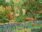 Art Oil Original Painting RM Mortensen Landscape Flowers Garden Impressionism