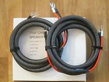 FOR// McIntosh MC252 Stereo Power Amplifier SPEAKER CABLE TTAF 2.5 mtr. PAIR NEW
