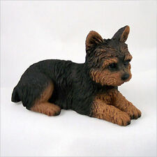 Yorkie Figurine Hand Painted Collectible Statue Puppy Cut