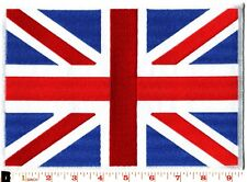 British Union Jack flag iron-on patch BIG 6 X 9 applique iron-on patch G-56