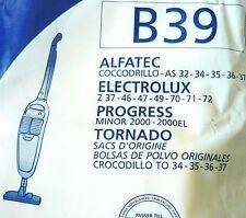 MENALUX B39 10 sacs aspirateur ALFATEC ELECTROLUX Z PROGRESS TORNADO CROCODILLO