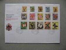 RHODESIA, cover FDC 1974, buck flowers butterflies