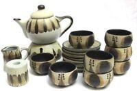 60er Jahre Keramik Teeservice Sgrafo