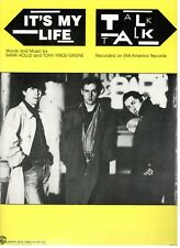 "TALK TALK ""IT'S MY LIFE"" SHEET MUSIC-PIANO/VOCAL/GUITAR/CHORDS-1984-RARE-NEW!!"