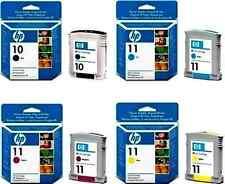 ORIGINAL PACK OF 4  2012 DATE CARTRIDGES HP 10 BLACK & HP 11 CYAN MAGENTA YELLOW