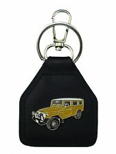 HJ78 - FJ78 Mustard Toyota Landcruiser Troop Carrier Quality Leather Keyring