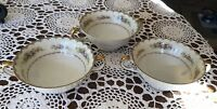 Estate Vintage MEITO Pattern MEI287 China Hand Painted Soup Bowl Set Of 3