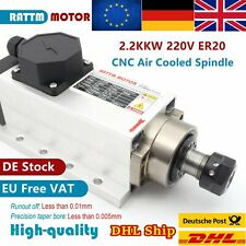 【EU】2.2KW Square Air Cooled Spindle Motor ER20 24000RPM for CNC Engraving Router