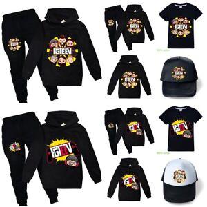 FGTeeV Kids T-shirt Hoodie Pants Set Tracksuit Loungewear Game Sweatshirt Top