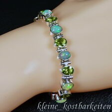 Armband * 925er Sterlingsilber * Äthiopische (WELO) Opale * Peridot