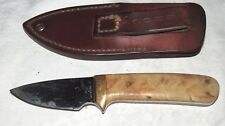 Brock #5 99377 Hunting Knife with Leather Scabbard