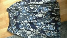 Refs19)dash. skirt size 14.blues.floral. lined.