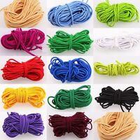 5m Rubber Cord hutgummi Elastic Stretchy Many Colours Diameter 3mm DIY