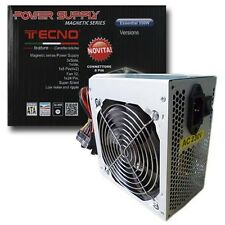 Alimentatore Power Supply Pc Tecno 550W Ide Sata Ventola 12cm Silenzioso hsb