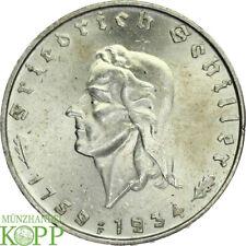 Q67) J.358 DRITTES REICH 2 Reichsmark 1934 F Friedrich Schiller