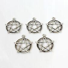 10pcs tibetan silver pentagram grand charmes Pagan / Celtique