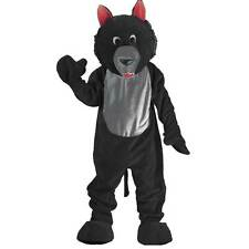 Adult Black Wolf Mascot Costume by Dress Up America