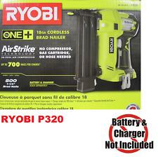 Ryobi P320 18V 18-Volt ONE+ AirStrike 18-Gauge Cordless Brad Nailer (Tool-Only)