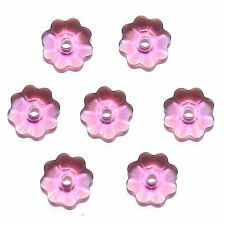 SCM130 Fuchsia Pink 6mm Marguerite Lochrose Flower Swarovski Crystal Beads 12pc