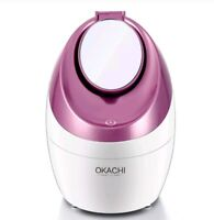 OKACHI GLIYA Portable Nano Facial Steamer For Acne Treatment Unclog Pores (Blue)