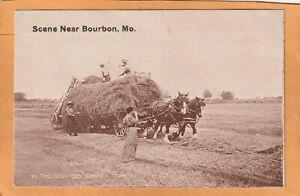 Bourbon MO 1908 Postcard