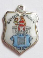BAD DEYN HAUSEN    vintage silver & enamel travel shield bracelet charm