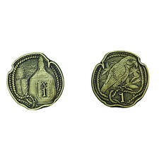 """Norse Foundry RPG D20 Adventure Coins """"1"""" Gold Piece Set of 10 Pirates Treasure"""