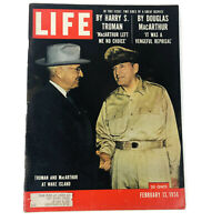 Life Magazine February 13 1956 The Recall of General MacArthur His Response