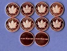 Cannabis Legaliser .999 Copper Rounds One Gram  Each 1X10