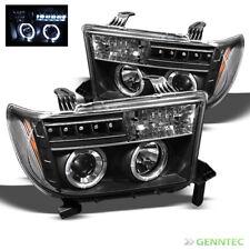 For 2007-2013 Toyota Tundra Twin Halo LED Pro Headlights Black Head Lights
