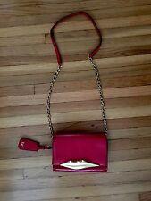NWT shopbop diane von furstenberg lip chainlink leather mini crossbody bag purse