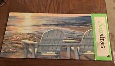 """Door Mat Sassafras  Mat Insert Adirondack Chair Beach  10 X 22"""" New!"""