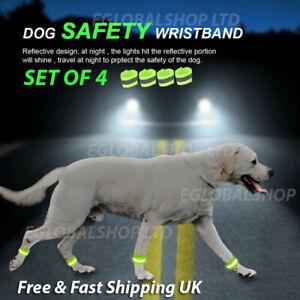 Reflective Dog Leg Band Wristband High Visibility Safety Wrap Glow Dark Walking