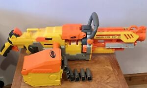 NERF HAVOC FIRE EBF 25 GUN BLASTER INC DART CHAIN and AMO
