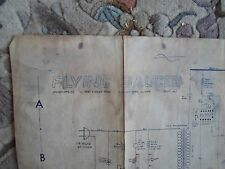 Fying Saucer arcade by Midway Schematic Original from 1967 rare