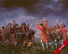 BATTLE OF CULLODEN PAINTING BRITISH SCOTTISH JACOBITE WAR ART REAL CANVASPRINT