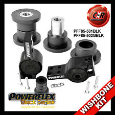 Audi S3 MK2 8P 06on Powerflex Black Front Wishbone Bushes AntiLift+Caster Adjust