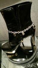 Rare Ladies Genuine Swarovski Boot Charm Bracelet.