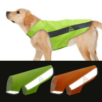 Hi Vis Viz Dog Safety Vest Harness Reflective Pet Coat Jacket Small Large Breeds