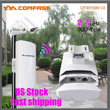 COMFAST Outdoor CPE 2.4GHz 300Mbps Wireless Access Point WiFi Repeater AP POE cf