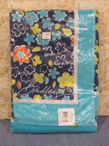 Vera Bradley Chandelier Floral Beach Towel #12329-382 Blue Multi (Sealed)-New