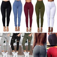 Pencil Jeans Women Stretch Denim Skinny Pant High Waist Trouser Jeggings Leggins