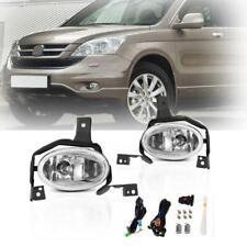For 10-11 Honda CR-V CRV Clear Fog Lights Front Bumper Lamps w/Switch+Wiring kit