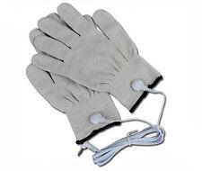 Par de guantes de electrodo de fibra conductiva E-el/Estim Decenas Máquina con contactos