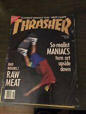 Thrasher Skateboard Magazine November 1989 Chris Duthy Bert Lamar 11/89 Nov