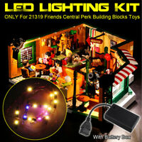 ONLY USB LED Light Lighting Kit For LEGO 21319 Friends Central Perk Bricks Toy