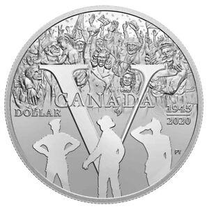 75th Anniversary of V-E Day - 2020 Canada Proof Silver Dollar