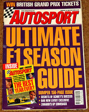 Autosport 25/2/99* 1999 F1 SEASON GUIDE - ZANARDI RETURNS - BTCC HONDA ACCORD