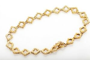 "Vintage 1950s Tiffany & Co 18k Yellow Gold NUGGET 8.5"" DECO Bracelet 17g RARE"