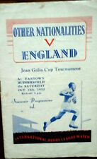 England V Other Nationalities 18/10/1952 Galia Cup @ Huddersfield